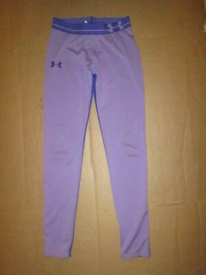 Girls UNDER ARMOUR HEAT GEAR athletic fitted leggings pants sz L Lg YLG