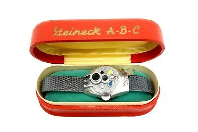 Steineck Abc Camera Work Wrist Photo Camera Wrist Watch Rarely jx093