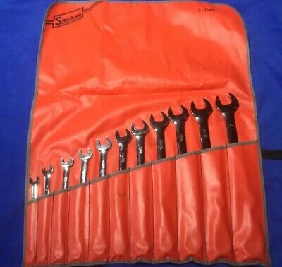 Snap on Flank Drive Combination SAE Wrench Set 11 Pieces.  Excellent Condition!