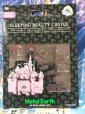 Disney Parks Metal Earth 3D Model Kit Sleeping Beauty Castle Now In Color  New