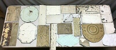 15' Sq.ft.Antique TIN metal CEILING Re Purpose Crafts Art Projects Vtg 171-20B