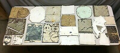 15' Sq.ft.Antique TIN metal CEILING RePurpose Crafts Art Projects Vtg 174-20B