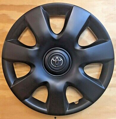 4x15in Black Matte hubcap covers fits Toyota Camry 2000 2001 2002 2003 2004-2006