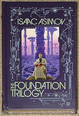 Isaac Asimov ~ The Foundation Trilogy ~ Leatherbound Gift Quality ~ Brand New