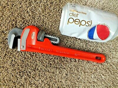 "Ridgid 10"" End Pipe Wrench Excellent Condition Ridge Tool Elyria Ohio Usa"