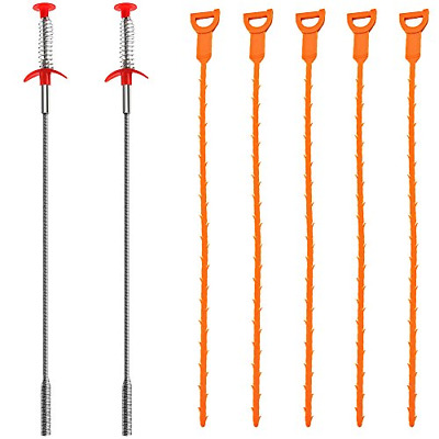 7 Pack Sewer Dredging Tools, 2 Multifunctional Cleaning Claw, 5 plastic Us Stock