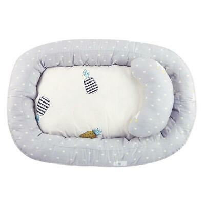 Portable Baby Nest Bed Crib Removable Washable Protect Cushion with Pillow  P4PM