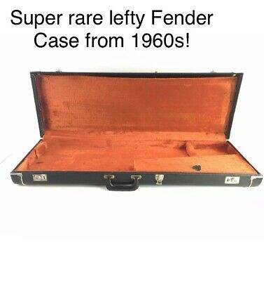 Vintage 1967 Left Handed Fender Guitar Hard Shell Case USA Made Very Rare Lefty