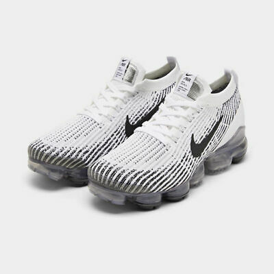 Nike Air Vapormax Flyknit 3 Running Shoes White / Black Sz 8.5 AJ6900 105