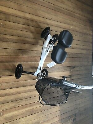 Roscoe ROS-KSW Knee Scooter Walker W/Basket White BNIB PERFECT CONDITION!!