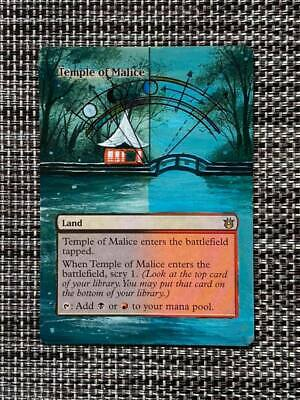 Temple of Malice MTG Magic Born of the Gods Hand Painted Altered Full Art <(((-<