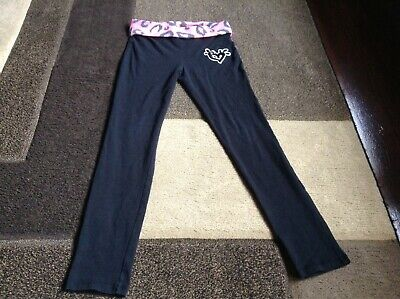 Girls Justice black fold over waist long leggings size 14(EUC)