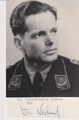 Signed photo Stuka pilot Hautmann Heinz Niehuus - Knights Cross recipient