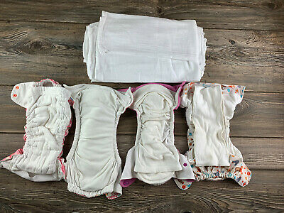 Lot of 33 Cloth Diapers (Various Brands)