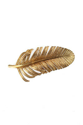 Tiffany & Co 14KT Yellow Gold Feather Vintage Brooch Pin