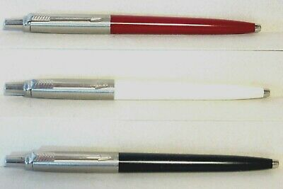 3 ~ Parker Jotter Ballpoint Pens  Red / White / Blue ~ All Working