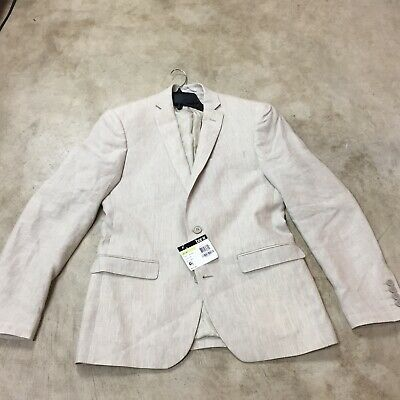 mens bar III Bar 3 slim fit 100% linen suit jacket coat 38R 38 regular 12-19