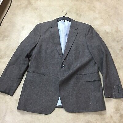 mens stafford gray suit sport coat jacket coat 42R 42 regular 12-19
