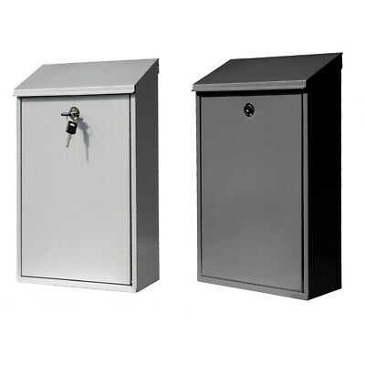 Lockable Outdoor Galvanized Mailbox wall-mounted Letter Box