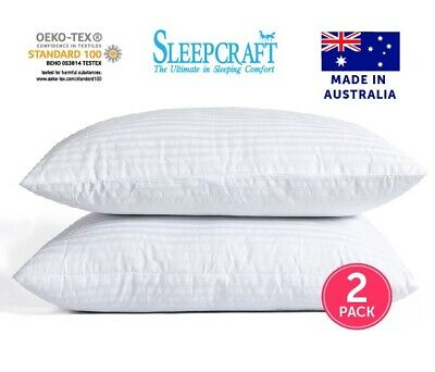 Hotel Quality 2 Pack Pillows Australian Made