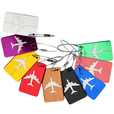 Metal Travel Luggage Tag Label Holder Suitcase ID Address Tags Boarding cards