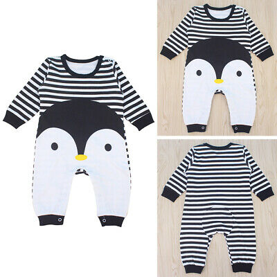 Baby ches long sleeve cotton romper cartoon Penguin baby animal girl jumpsuit