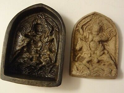 ANTIQUE MONGOLIAN BUDDHIST HAND CRAFTED BRONZE MOULD for a PHALDEN LHAMO
