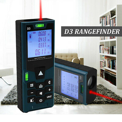 120M Digital LCD Laser Rangefinder Distance Meter Area volume Single Measurement
