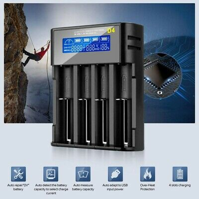 LCD Display Intelligent Fast Battery Charger for AA AAA Rechargeable Batteries U