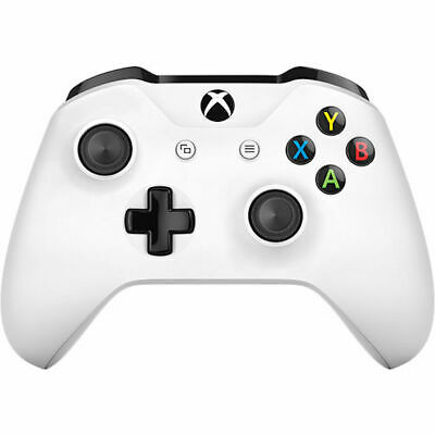 OFFICIAL MICROSOFT XBOX ONE S SLIM WIRELESS WHITE CONTROLLER NEW [unboxed]