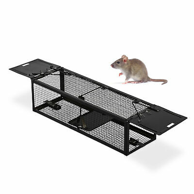 Catch & Release Bait Trap Mouse Rodent Vermin Humane 2-Sided Cage Trapping