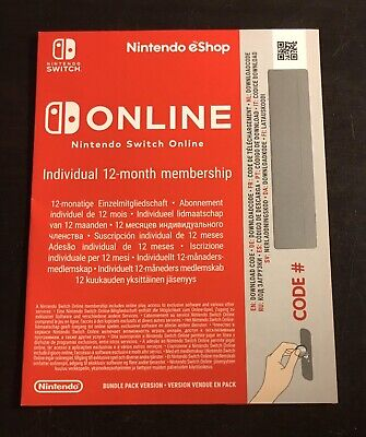 Nintendo Switch Online Subscription - 12 Months / 365 Days (New)