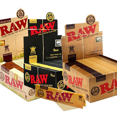 RAW Black Classic Organic Hemp Rolling Papers Classic King Size 3 Full Boxes