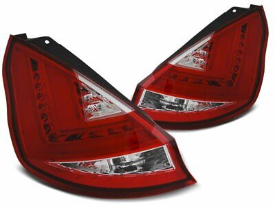 Feux Arrière Ford Fiesta MK7 08-12 Rojo Blanc LED BAR LTI inside IT LDFO45EP XIN