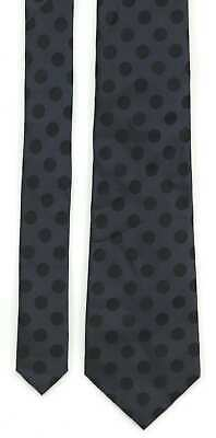 Jaeger 100 Silk Black Blue Textured Tie Vgc Made In Italy 5 98 Picclick Uk