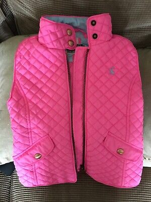 girls joules pink gillet age 5years