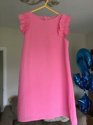 next girls pink short sleeved shift dress age 6years