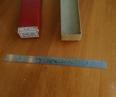 Vintage L. S. Starrett 6 Inch Rule No. 327 with Box