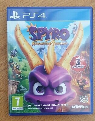 Spyro Reignited Trilogy Sony Playstation 4 Game Excellent Condition Free P&P
