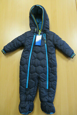 Baker By Ted Baker Dark Blue Quilted Baby Snow Suit Age 6-9 Months BNWT