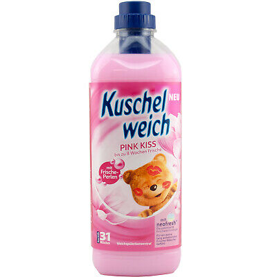 Kuschelweich Fabric Softener Pink Kiss 1 x 1 L for 31 Washes Freshener Beads
