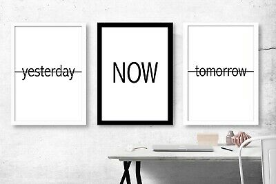 SET OF 3 Typography Wall Art Poster Picture Prints. Home Bedroom Living Hall