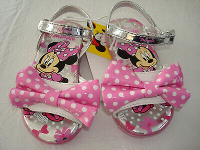Girl Disney Minnie Mouse Light Up Sandals Size  7 Toddler NWT