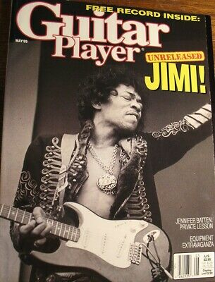 Guitar Player Magazine May 1989 Jimi Hendrix With Record Batten Roy Rogers Vai