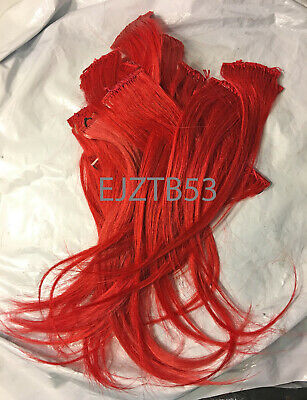 "Lot of 36 - 10"" Red 100% Human Hair Tangle Free 1.75"" Width Clip In Add Hilites"