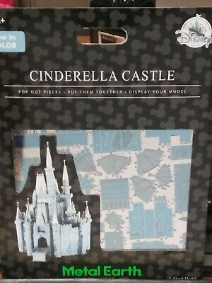 NEW Disney Parks Metal Earth 3D Model Kit Cinderella Castle Now In Color