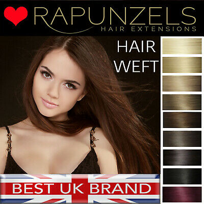 "Hair extension weft LA weave 20"" length Rapunzels remy salon hair - all colours"