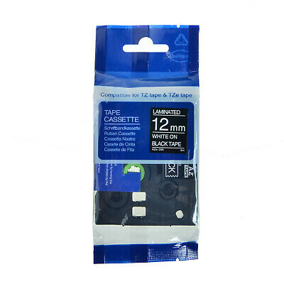 TZe-335 TZ-335 TZ335 TZe335 White On Black Label Tape For Brother P-Touch 12MM