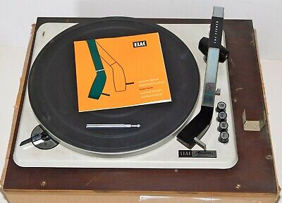 VERY RARE ~ ELAC Miracord 10-F Console Record Player / Instruction Book ~ Works!