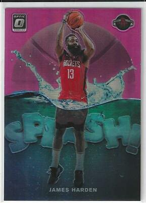 2019-20 Panini Optic Pink Prizm Refractor Splash James Harden Rockets /25